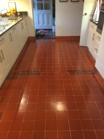 Quarry tiles after