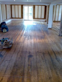 Norfolk oak floor sanding - before